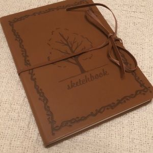 Leather-like bound sketchbook